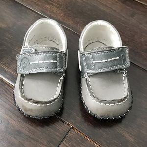 Grey Pediped loafers boys 6-12m
